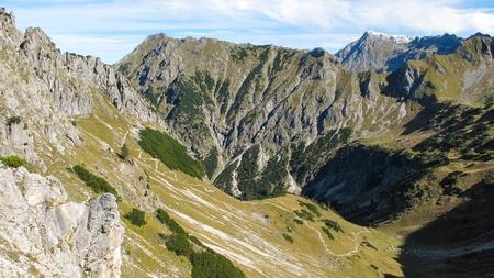 Alpine landscape close to Oberstdorf Stock Photo