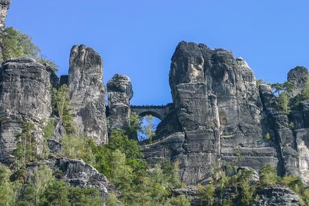 Bastei at Elbsandsteingebirge Saxony Germany