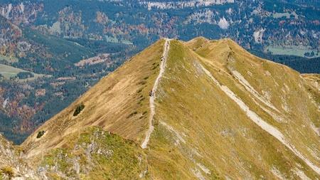 Trekking on a ridge in the Allgaeu photo