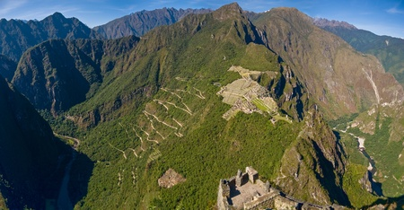 Machu picchu with both trekking paths