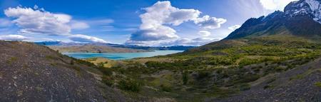 Lago Nordenskjoeld Torres del Paine Chile Panorama Stock Photo