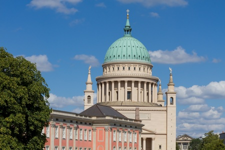 Dome of Potsdam and rebuilded city castle in Germany Editorial