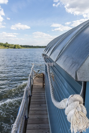 A float on the havel river in eastern Germany
