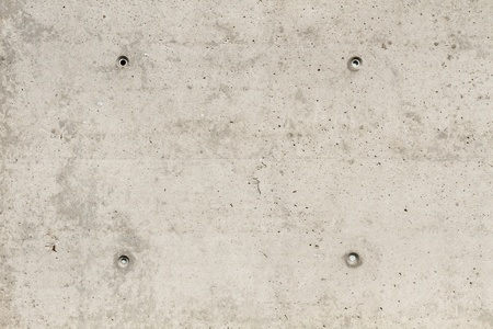 borehole: Concrete surface with four squared boreholes
