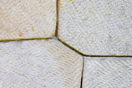 Detail of sandstone surface in different patterns