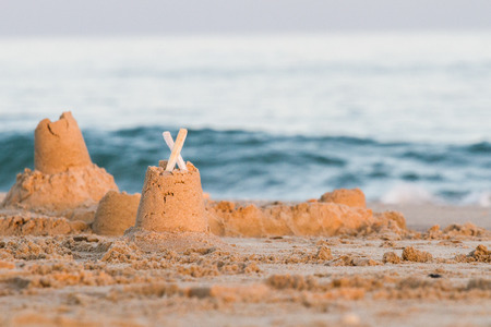 Sand castle at the sea
