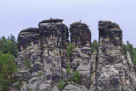 Rocks near the famous Bastei at Elbsandsteingebirge