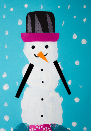 Snowman card selfmade