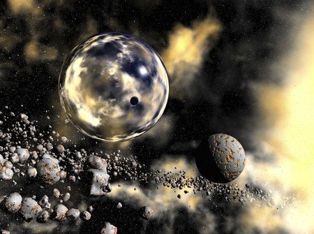digital rendering of a space scene Stock Photo - 8049800