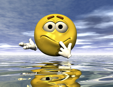 disappoint: digital rendering of an emoticon Stock Photo