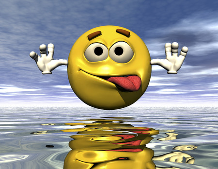 digital rendering of an emoticon Stock Photo - 8049756
