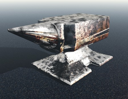 anvil: Digital visualization of an anvil
