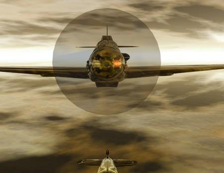 textur: Digital visualization of a airplane