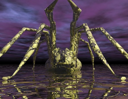 Digital visualization of a spider Stock Photo - 8070463