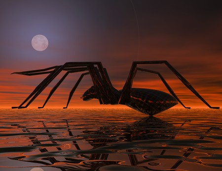 Digital visualization of an alien spider Stock Photo - 8070457