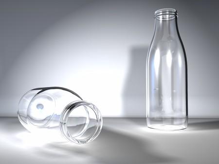 digital visualization of bottles