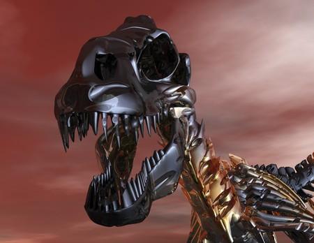 t rex: Digitale visualisatie van een T-Rex