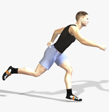 Digital rendering  Pose of a running man