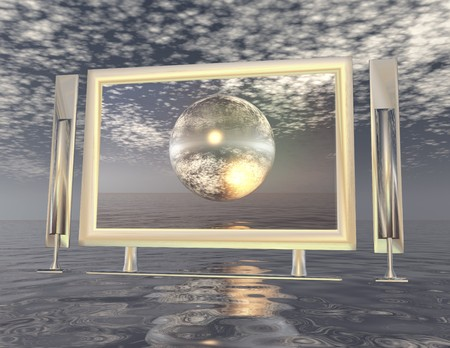 digital composition of a surrealistic scene photo