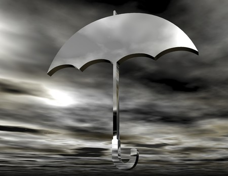 digital rendering of a protecting umbrella photo