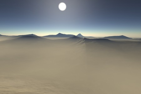 desert landscape: Digital visualization of a surreal landscape