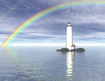 Digital visualization of a lighthouse