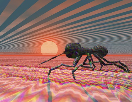 Digital visualization of an ant photo