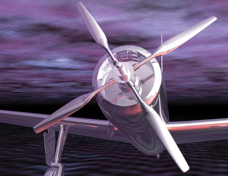 reflektion: Digital visualization of a airplane