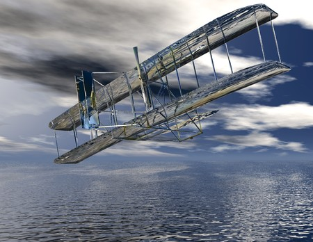 oldtimer: Digital visualization of a airplane
