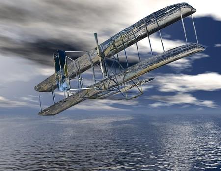 Digital visualization of a airplane