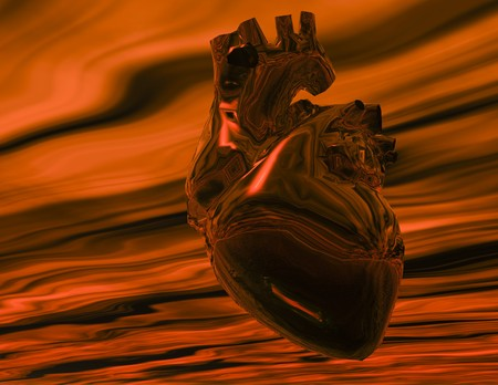 Digital visualization of a human heart Stok Fotoğraf
