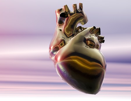 Digital visualization of a human heart Stock Photo