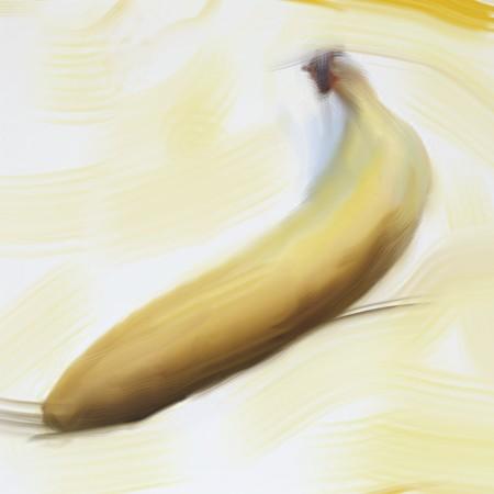 alimentation: Digital painting of a banana