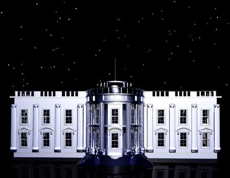 nightime: gigital rendering of the whitehouse
