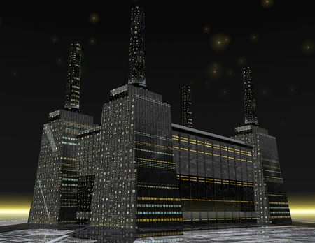 digital rendering of a power station photo
