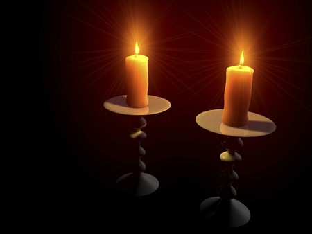 digital visualization of candles Stock Photo - 8076576