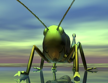 digital visualization of an insect Stock Photo - 8076637