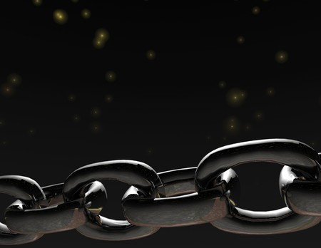 photorealism: digital visualization of a chain