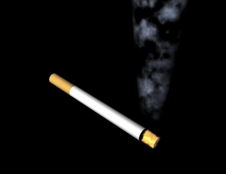digital visualization of cigarette Stok Fotoğraf