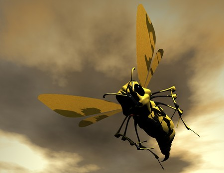 digital visualization of a bee photo