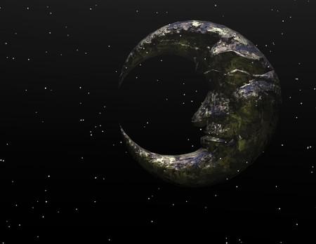 photorealistic: digital visualization of the moon