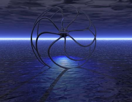 lifeform: digital visualization of a surrealistic scene