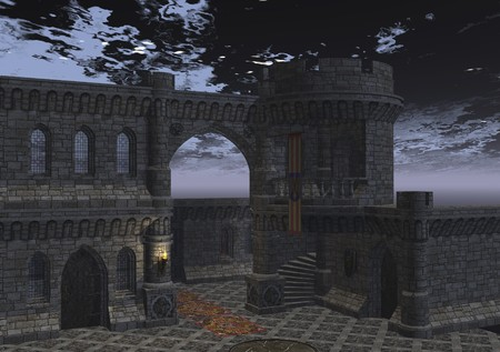 illusionary: digital rendering of a castle