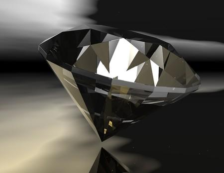 minerals: digital rendering of a diamond
