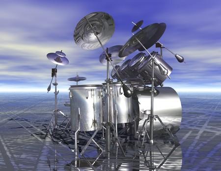 digital rendering of drums Stok Fotoğraf