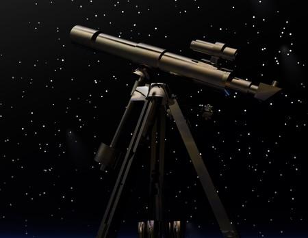 starshine: digital rendering of a telescope