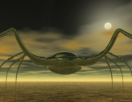 attac: digital rendering of a spider