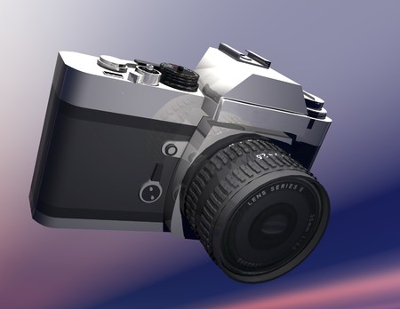 classical mechanics: digital rendering of a camera