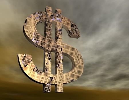 stimulation: digital rendering of a dollar symbol