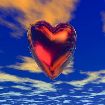 Digital visualization of a heart Stok Fotoğraf